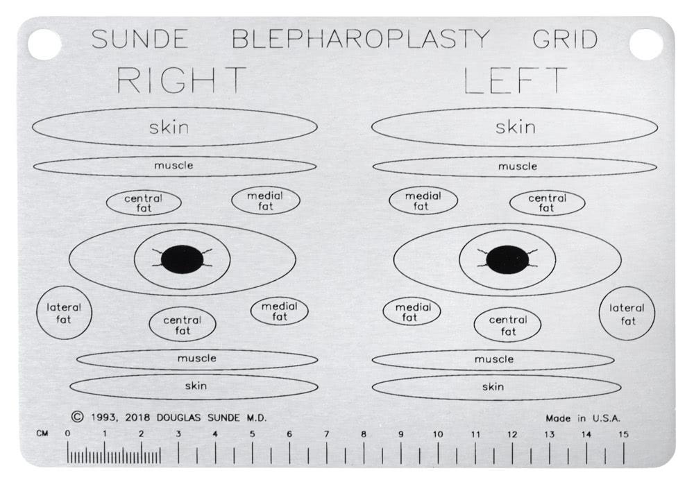 Sunde Belpharoplasty Grid